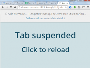 Plugin Google Chrome: The Great Suspender